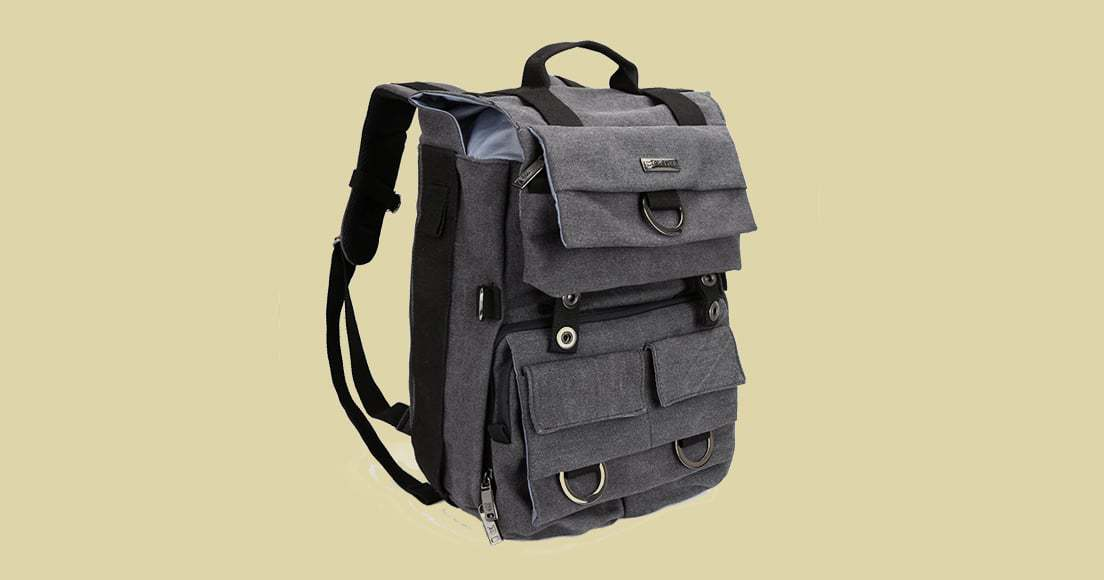 Evecase Classic Canvas Laptop Backpack