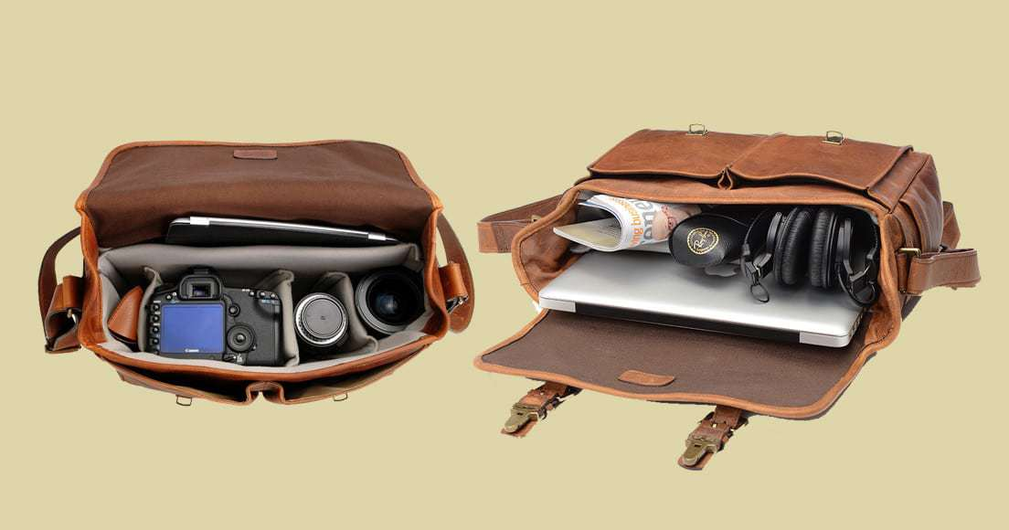 Ona Brixton Messenger Camera Bag Inside