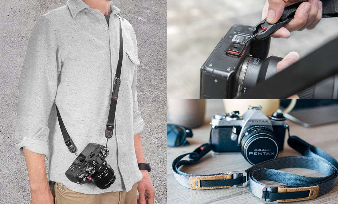 peak design leash camera straps