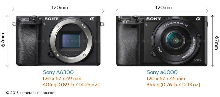 Sony a6000 vs 6300
