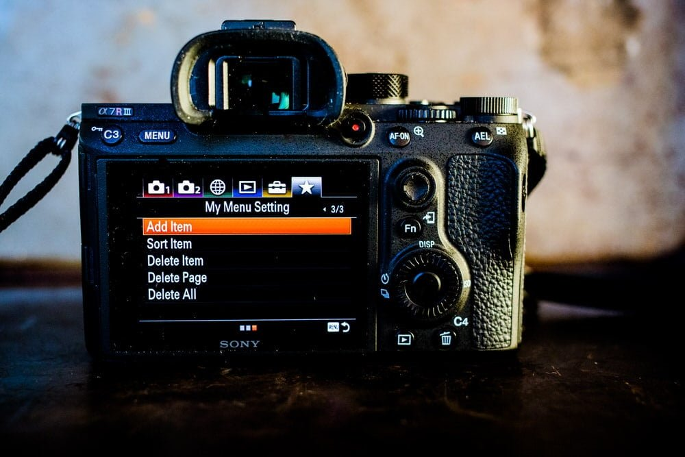 Adding a my menu section on the sony a7Riii camera