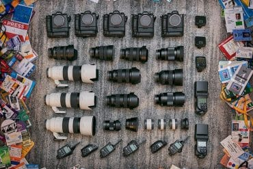 Sports photographer camera gear