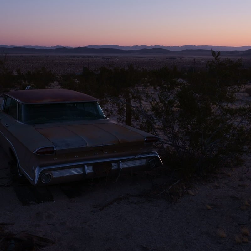 Abandoned car in Joshua Tree