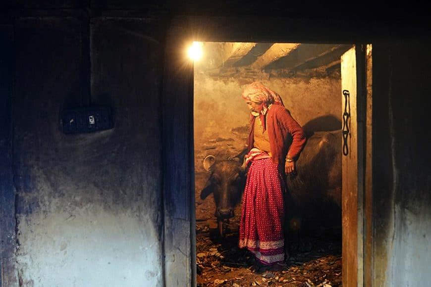 Dharma Life Entrepreneur Reshma Devi from Rautu Ki Beli Village, near Mussoorie, Uttarakhand. She has 2 daughters - Vaishnavi (4 years) and Vaishali (2 years)  Her Mother in Law is Chanda Devi.