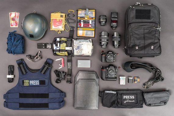 war photojournalist camera gear