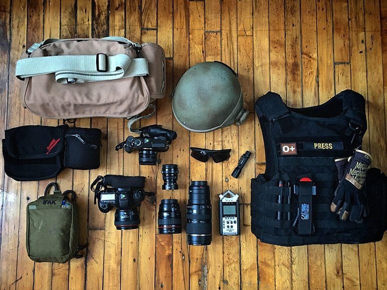 Photographer Osie Greenway's field kit covering the Mosul Offensive 2016/17