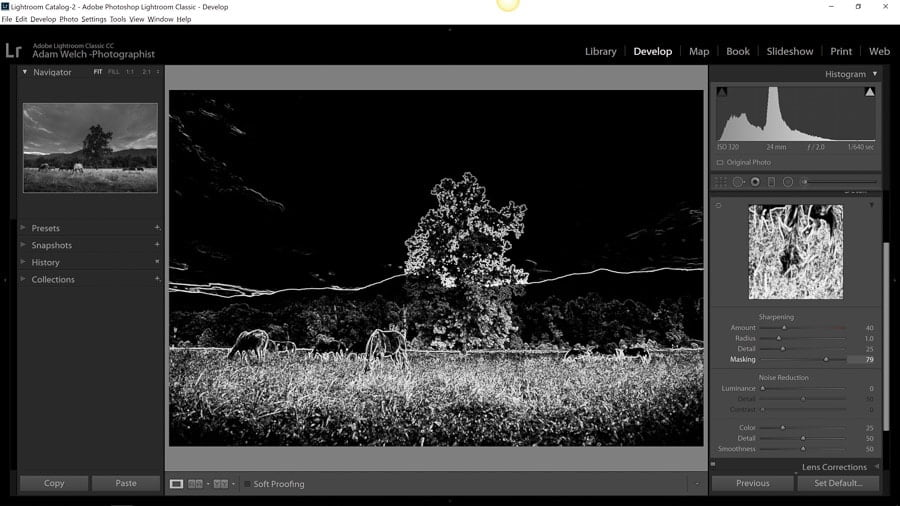 visualise spots in Lightroom classic