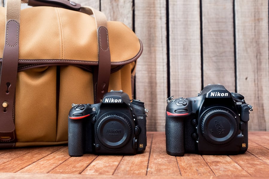 Nikon D850 vs D750 size comparison