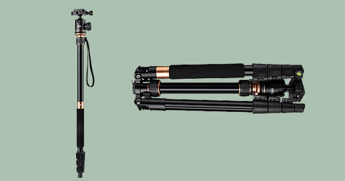 With a minimum extended height of 38.5cm (15″) and a maximum height of 1m 40cm (55″), the Rangers Ultra Compact Aluminum Tripod can collapse to just 35cm ...
