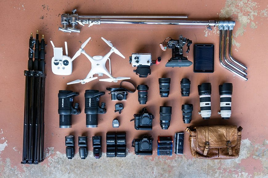 Canon, sigma and profoto gear makes up some of the equipment used by the team at Steven Martine Photography Inc. uses for daily aadvertising and lifestyle campaign photography and video.