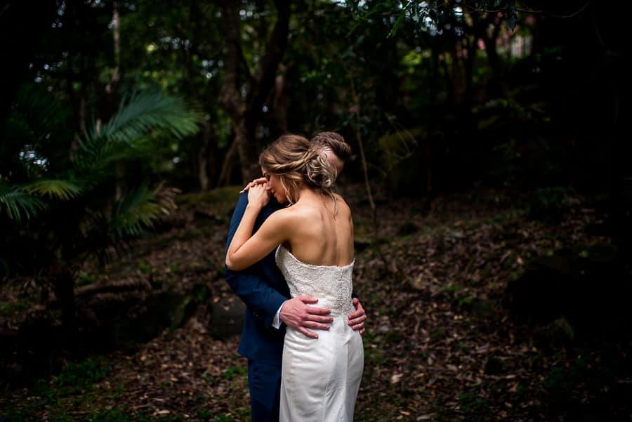 groom's face hidden