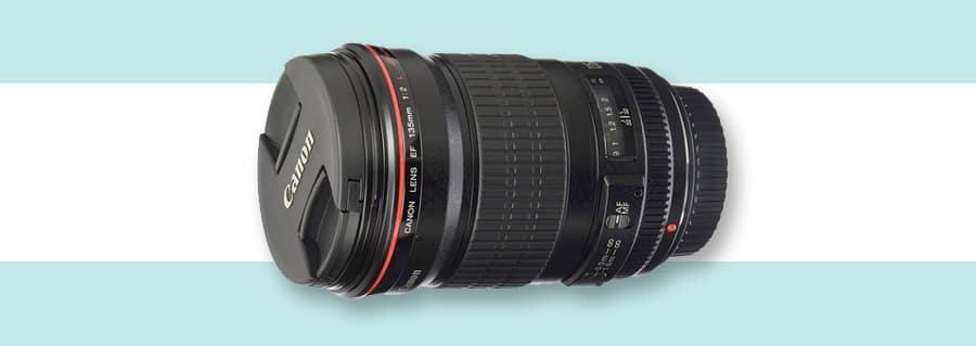 Canon 135mm f/2L USM best portrait lens with no image stabilization