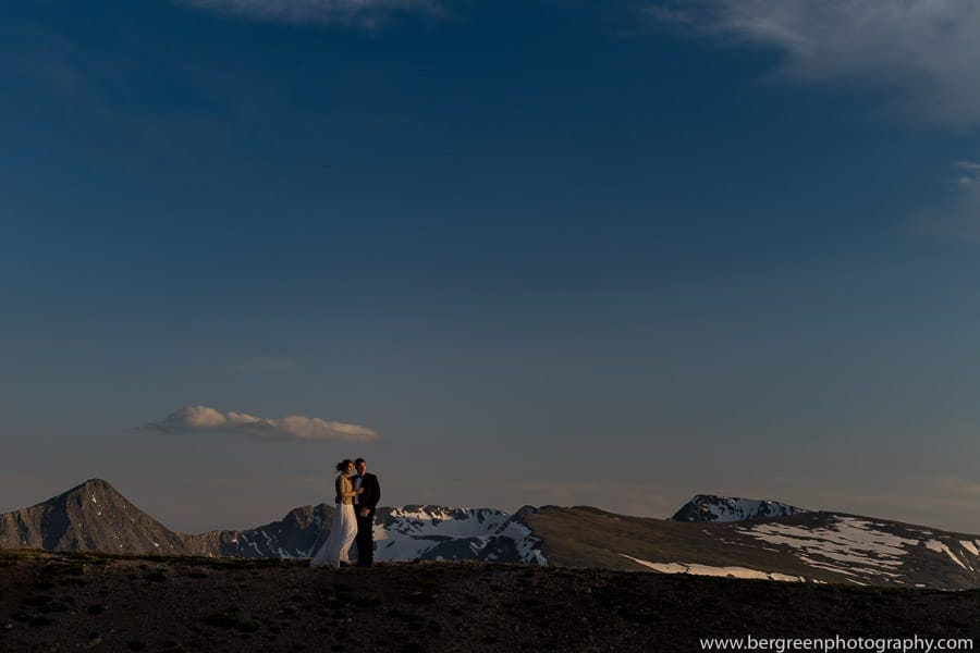 wedding portrait in rocky mountain national park colorado