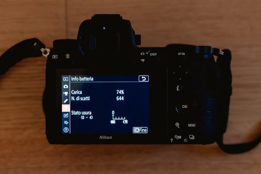 Nikon Z7 Review Battery life