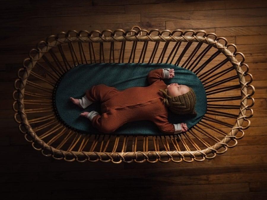 Olympus Mark III Camera Baby in Crib