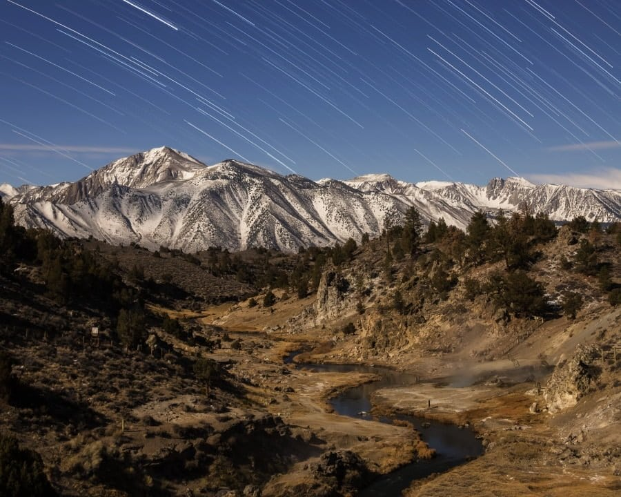 long exposure landscape photography at moonlight