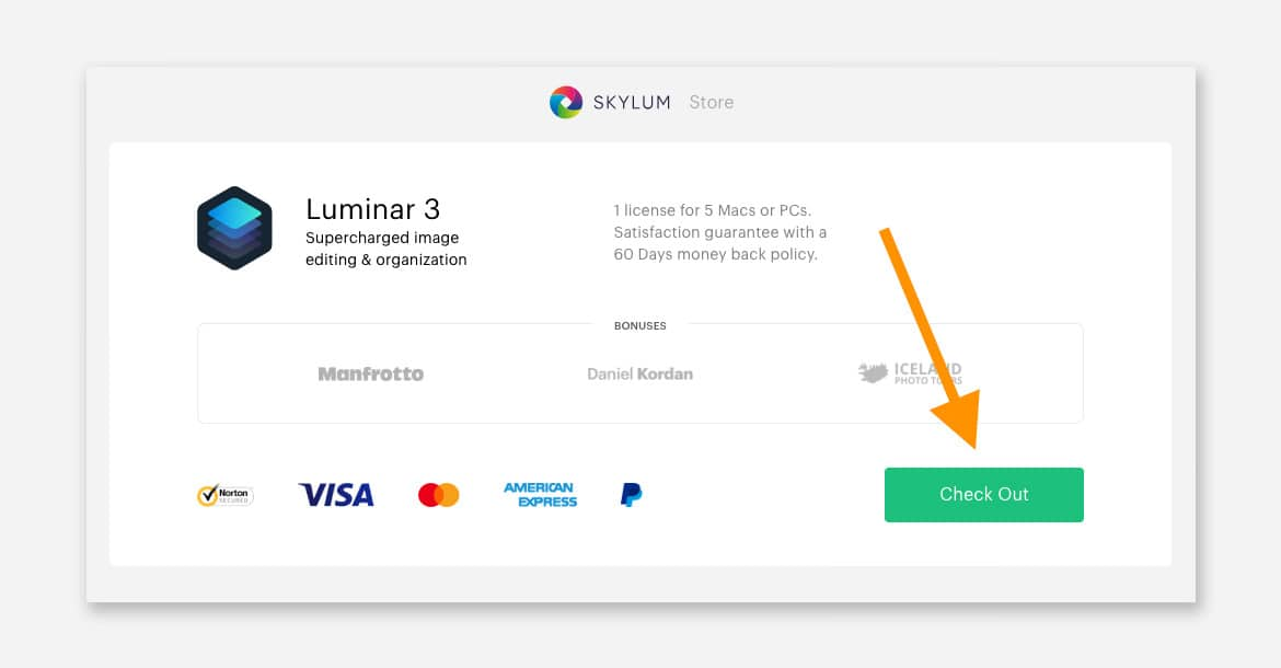 explanation of how to claim the Luminar coupon code