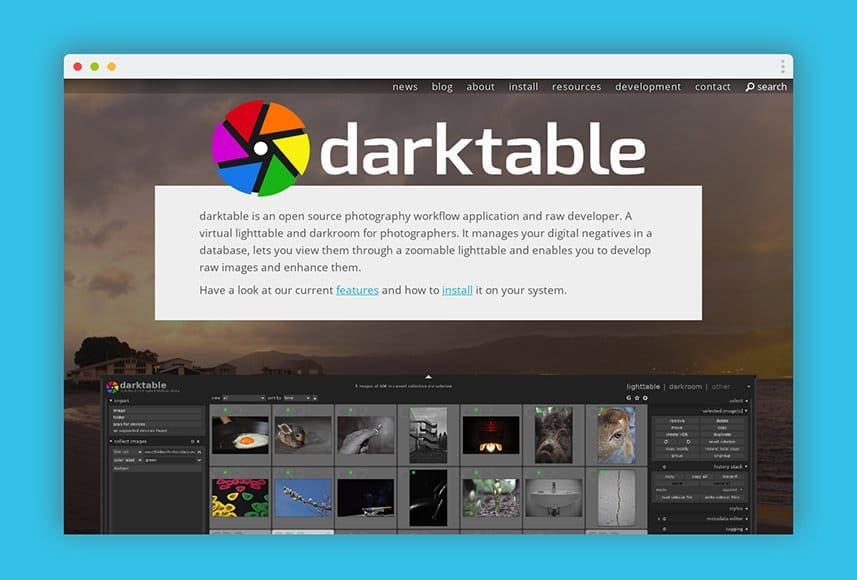 free lightroom alternative darktable
