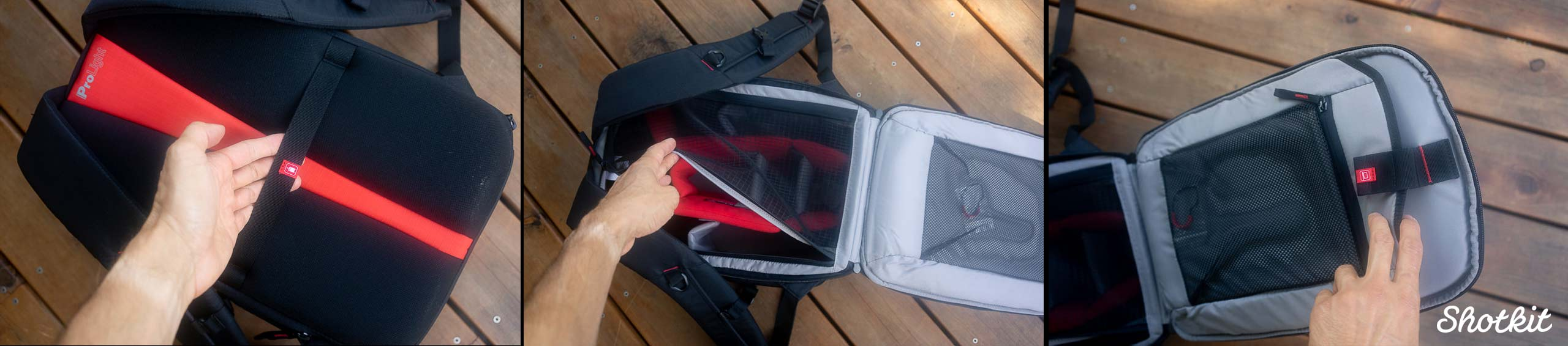 What the Manfrotto Redbee Camera Bag holds inside