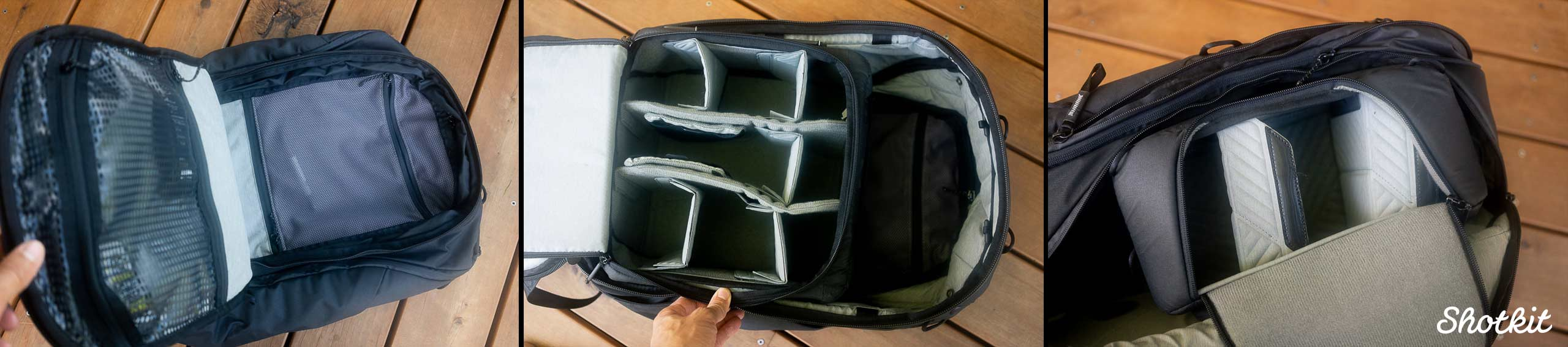 What the Peak Design Travel Backpack can hold