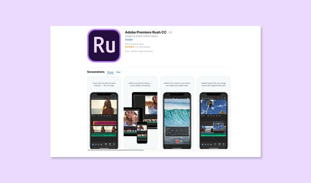 Adobe Rush Mobile