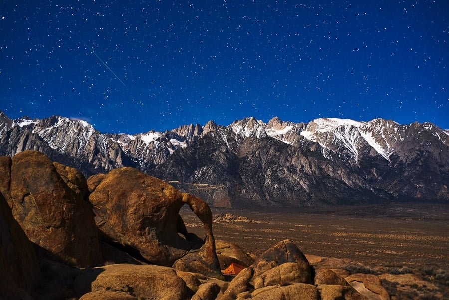 Astrophotography Tips Nightscape Meteor Shower Alabama Hills Eastern Sierra