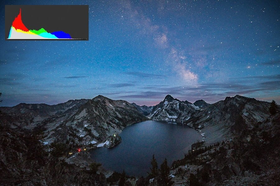 Astrophotography Exposure Histogram Tips Nightscape Photography for starry sky image