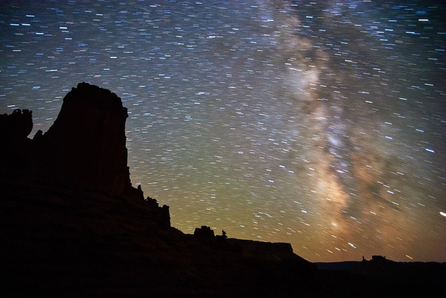Astrophotography Tips for Sharp Stars - night sky. Use software like Lightroom to edit the image of the sky
