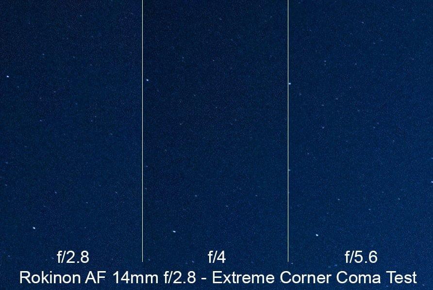 Rokinon 14mm f/2.8 AF Coma Test Sample Image