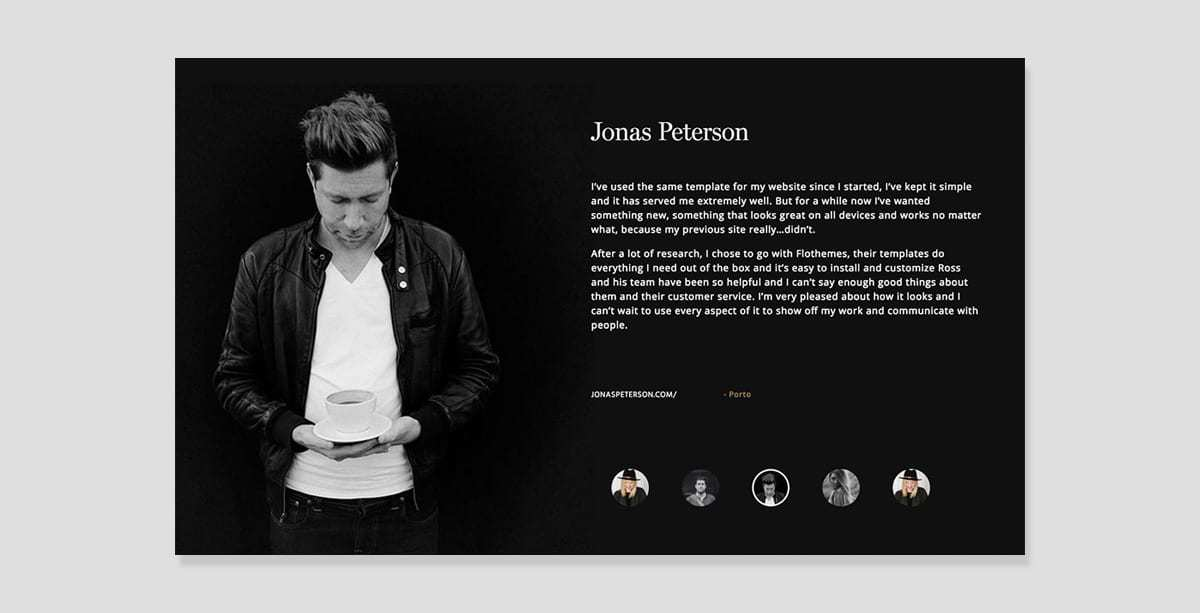 Jonas Peterson website theme