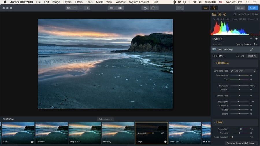 Aurora HDR comes with plenty of presets