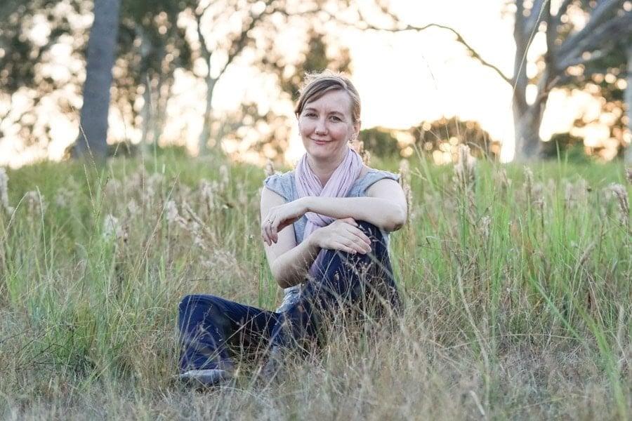 Sarah in a field