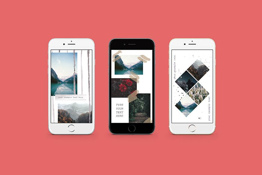 How to Download the instagram story Template Bundle - there are several instagram stories templates availavle for your design or brand - add them to your instagram story whenever you like - the variety of templates ensures you'll have a diverse range of design looks for your brand, and new content on tap for those templates instagram loves.