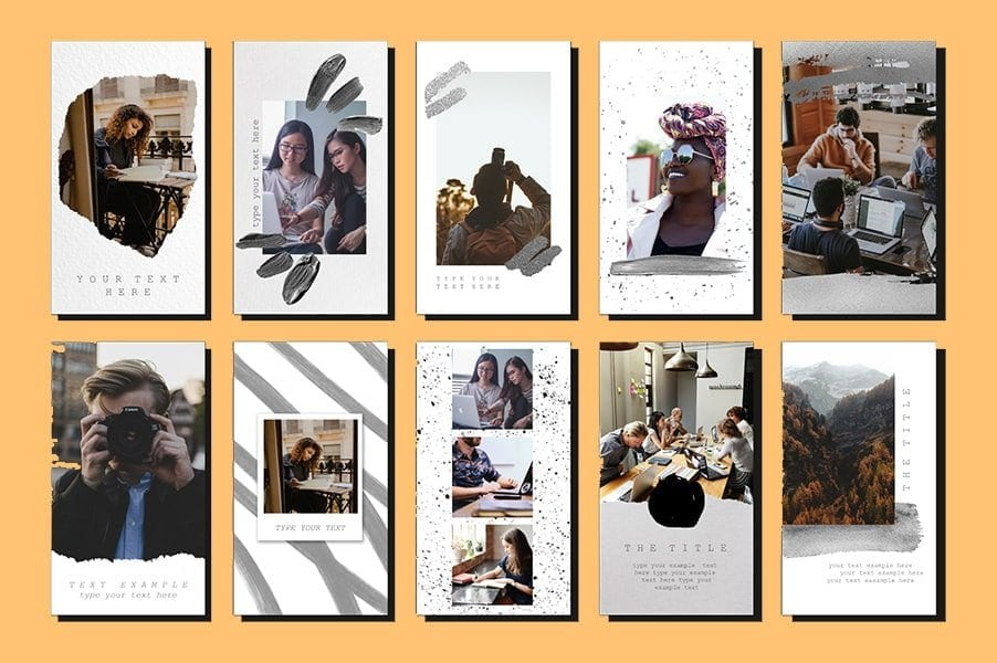 Instagram Story Templates - instagram brand design you'll like. These instagram templates are 100% free to use for whatever brand design you have. We included a variety of instagram stories templates for you to choose from - let's face it - every loves Instagram, and using templates can really speed up your brand design process.