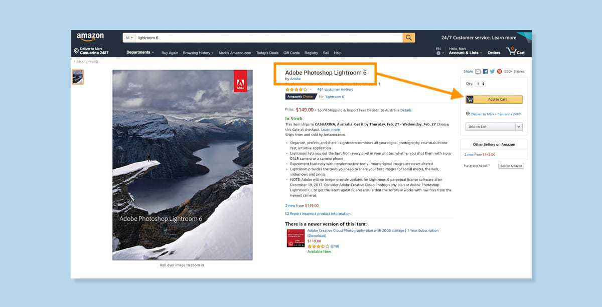 buy lightroom 6 amazon