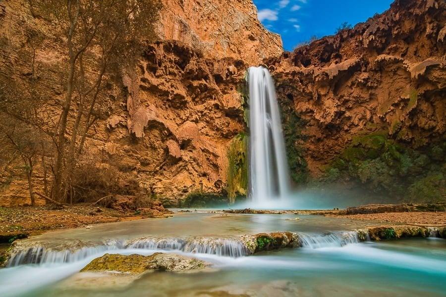 Waterfall blurred water shot
