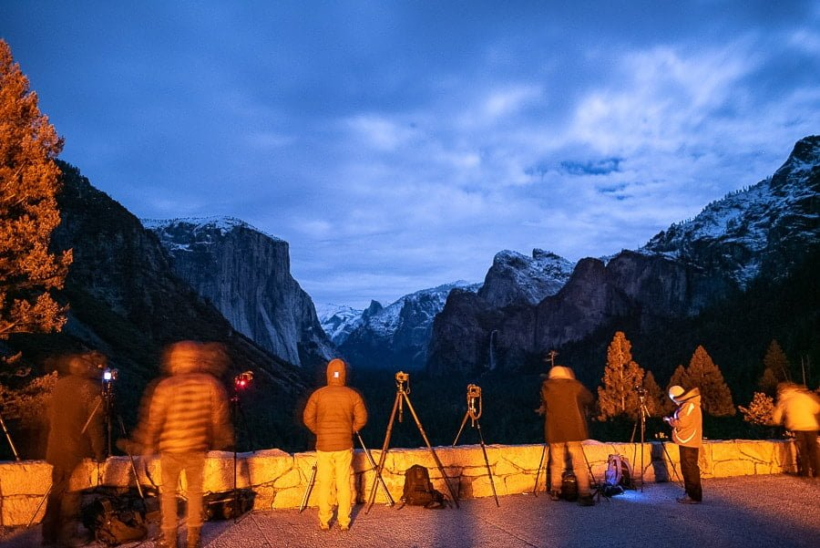 People using tripods during Landscape Nightscape Photography
