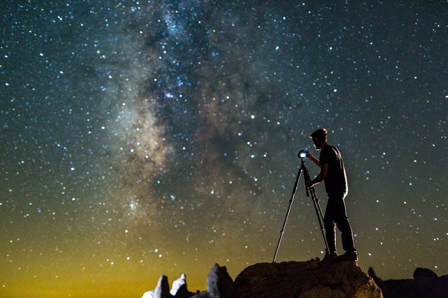 how to capture portraits with the milky way - NB focal length and 500 rule