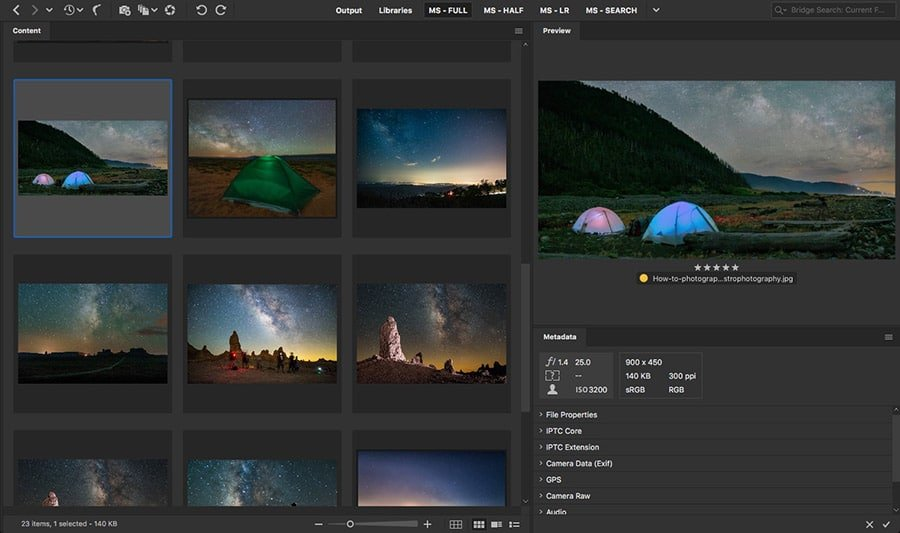 how to photograph the milky way lightroom photoshop processing editing
