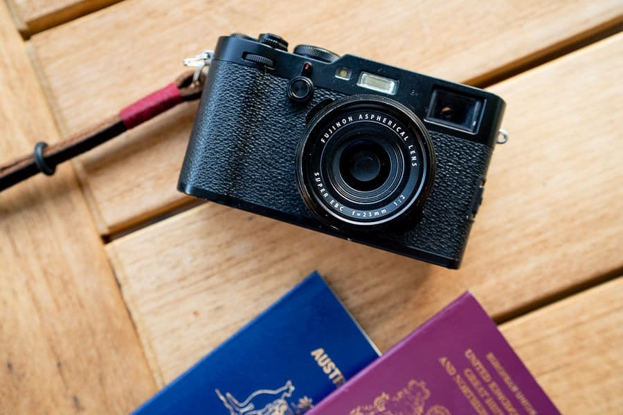 fuji x100f for traveling