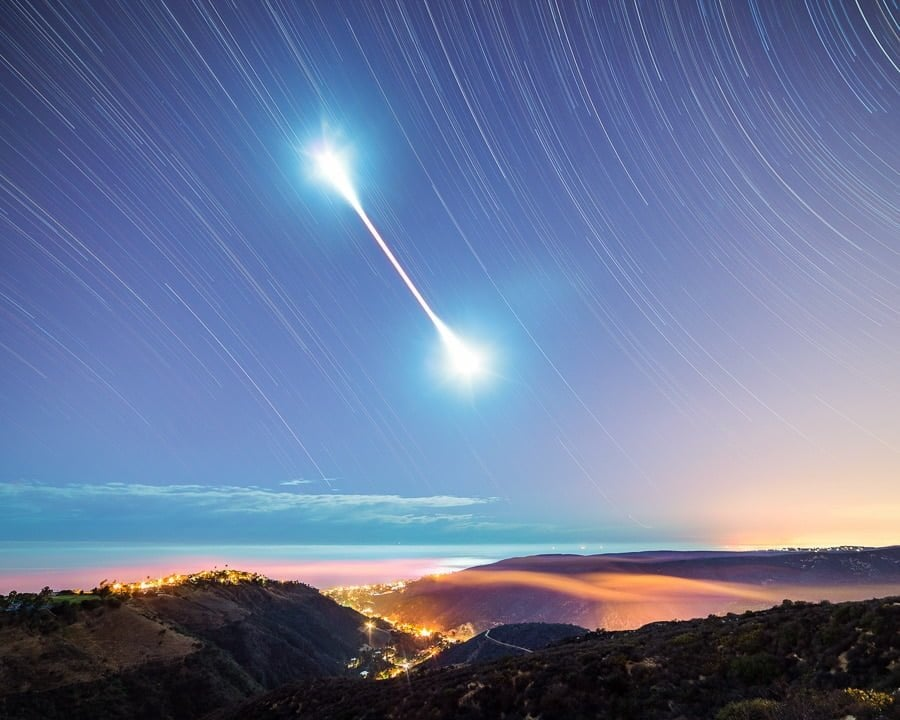 how to do a long exposure with a lunar ecplise