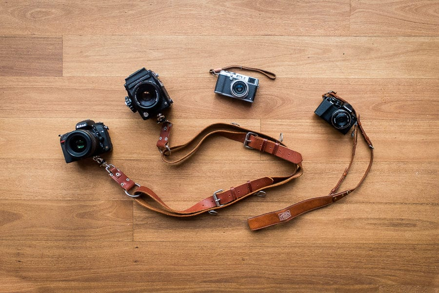leather camera strap selection