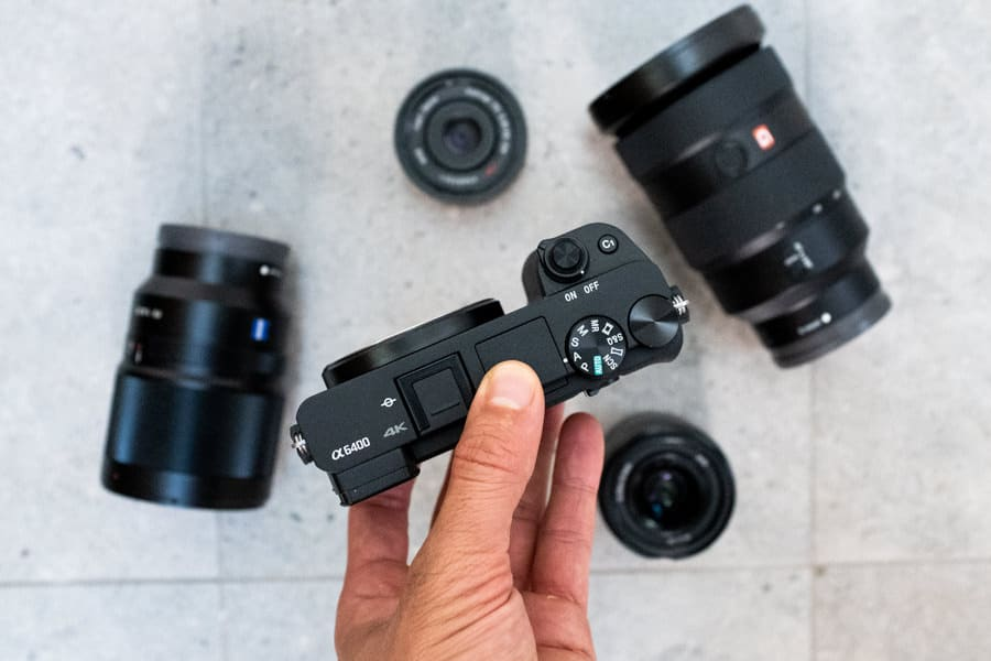 sony a6400 lens options