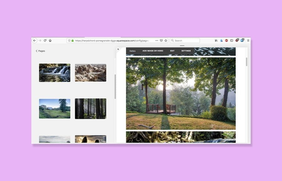 Squarespace uses a drag-and-drop interface