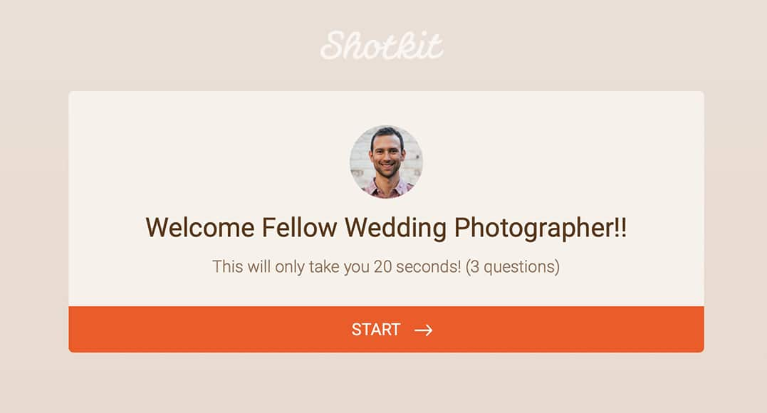 survey shotkit wedding photographer average costs
