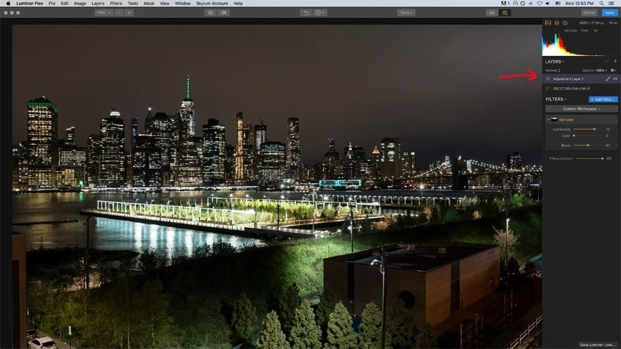 Luminar Flex has layers, brushes, and masking abilities