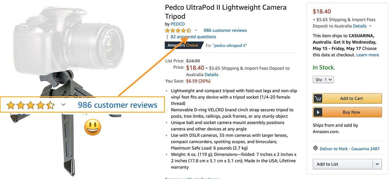 pedco ultrapod mini tripod review