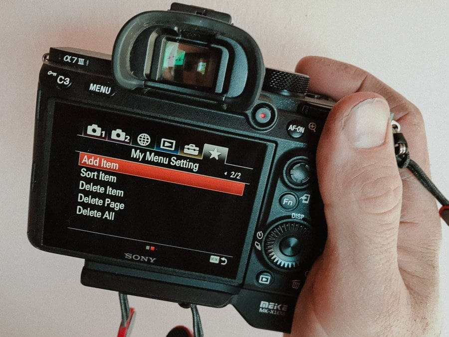 How to Customise your Sony a7III/a7RIII | Helpful Guide