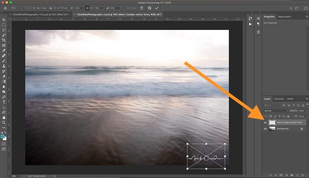 Add logo with Photoshop