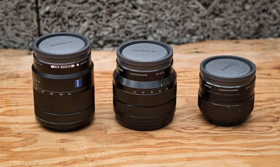Sony a6500 lenses
